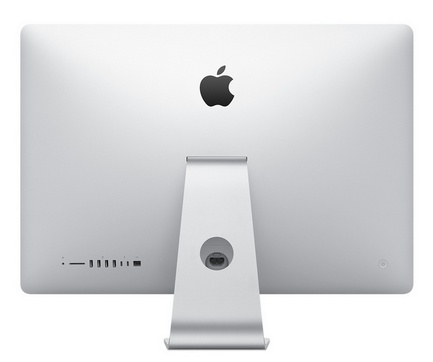 Apple iMac dizainas iš nugaros pusės
