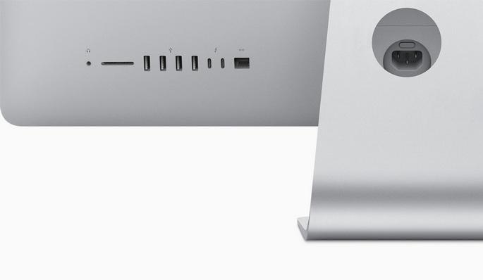 Apple iMac kompiuterio jungtys